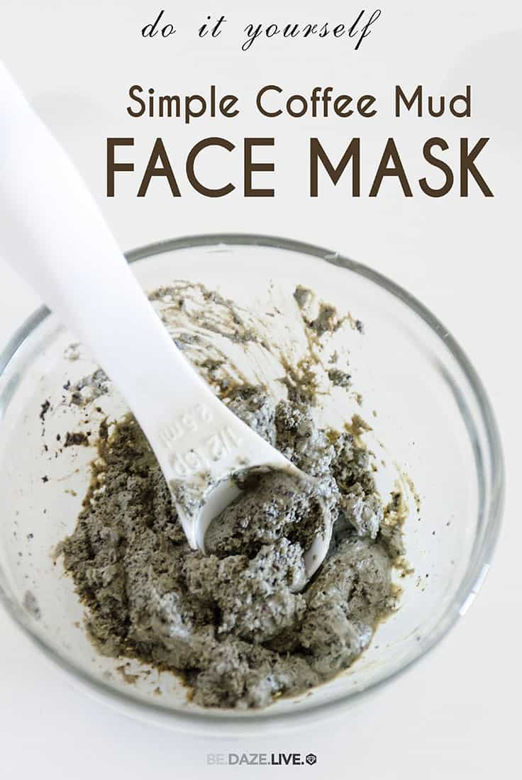 Simple coffee mud face mask