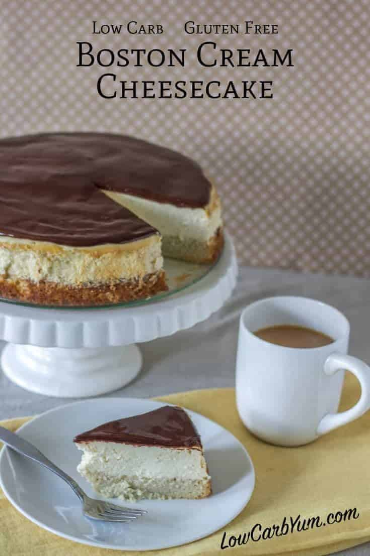 Sugar free boston cream cheesecake