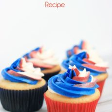 Swirled fourth of july cupcakes
