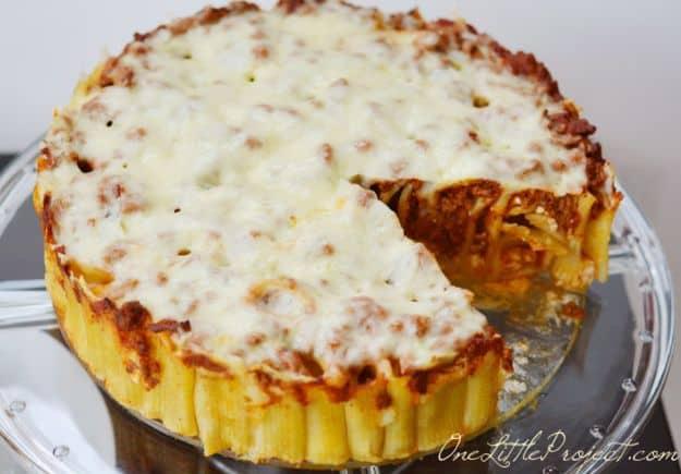 Üç peynirli italyan rigatoni börek