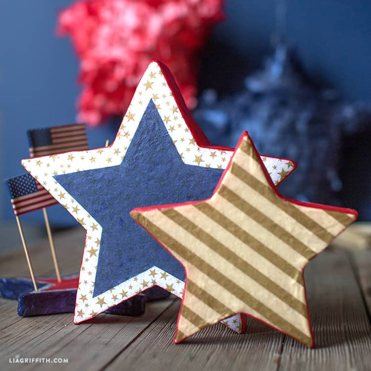 Tissue covered foam stars