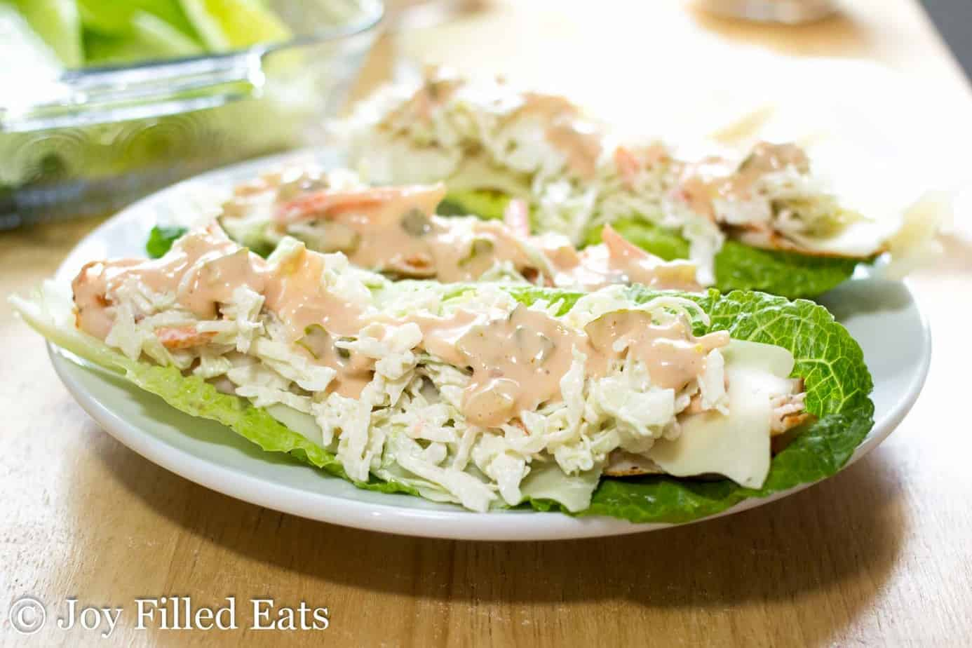 Turkey joe lettuce wraps