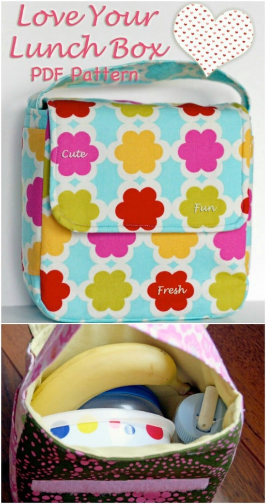 Velcro flap lunch bag