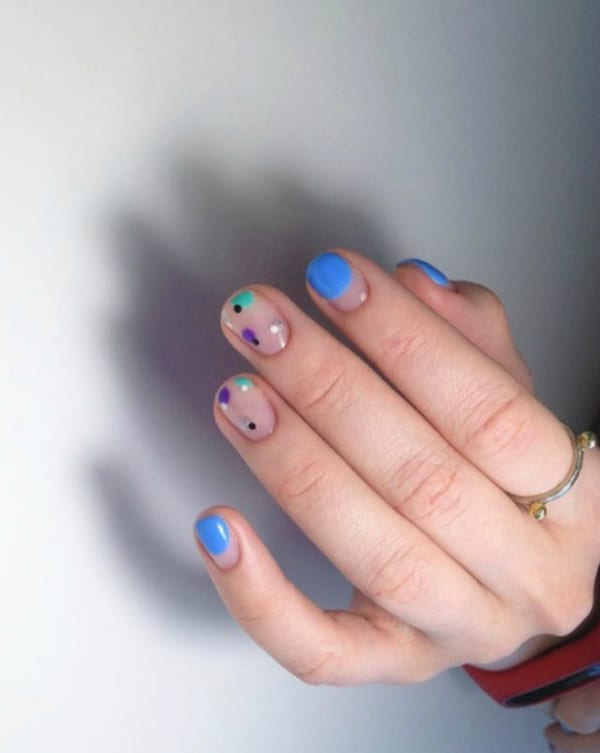 Color drops summer nails 2