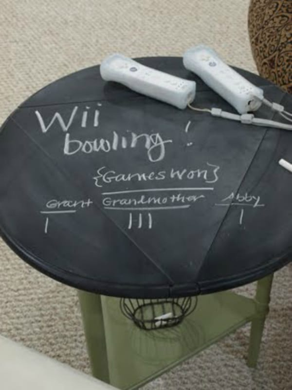 Diy chalkboard table 2
