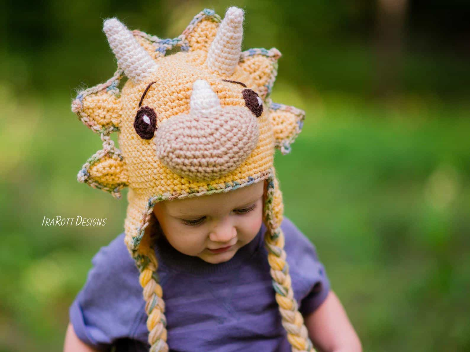 Diy dino hat crochet