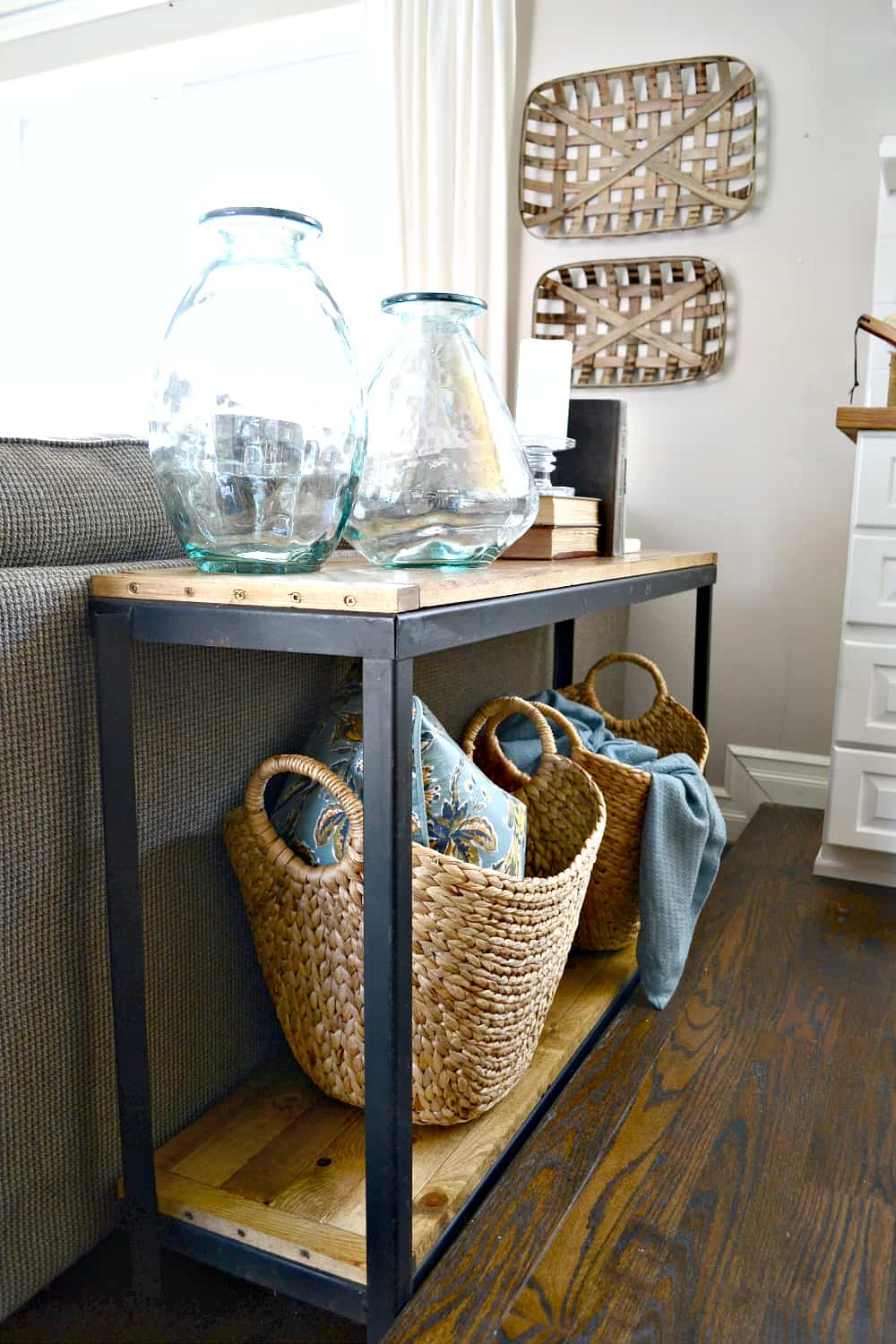 Diy farmhouse sofa table