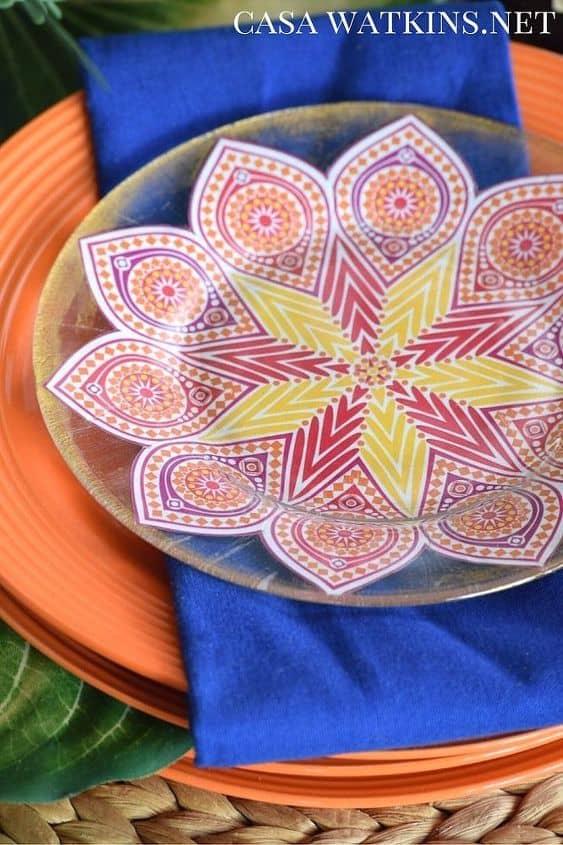 Diy moroccan dessert plates crafts decoupage