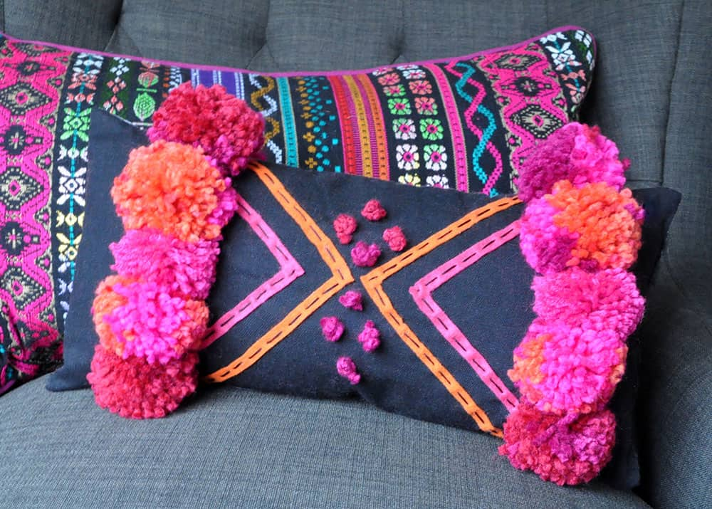Diy moroccan pillow makeover