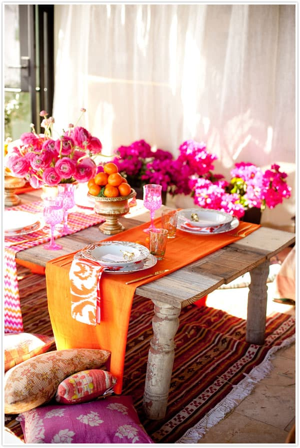 Diy moroccan styled table