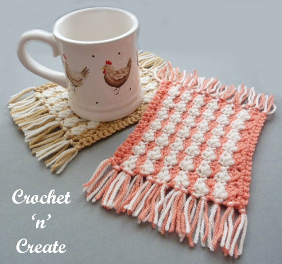 Diy mug rug crochet project