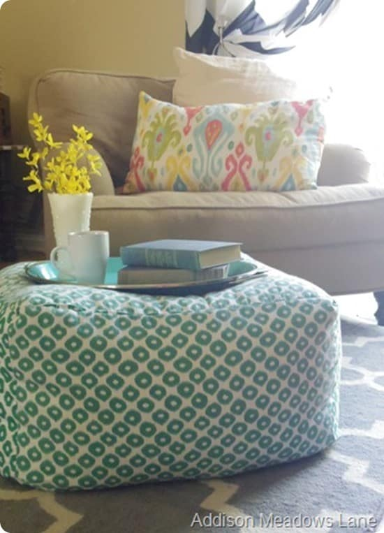 Diy oversized pouf