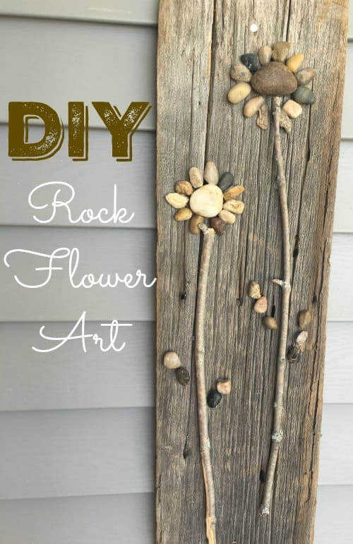 Diy rock flowers