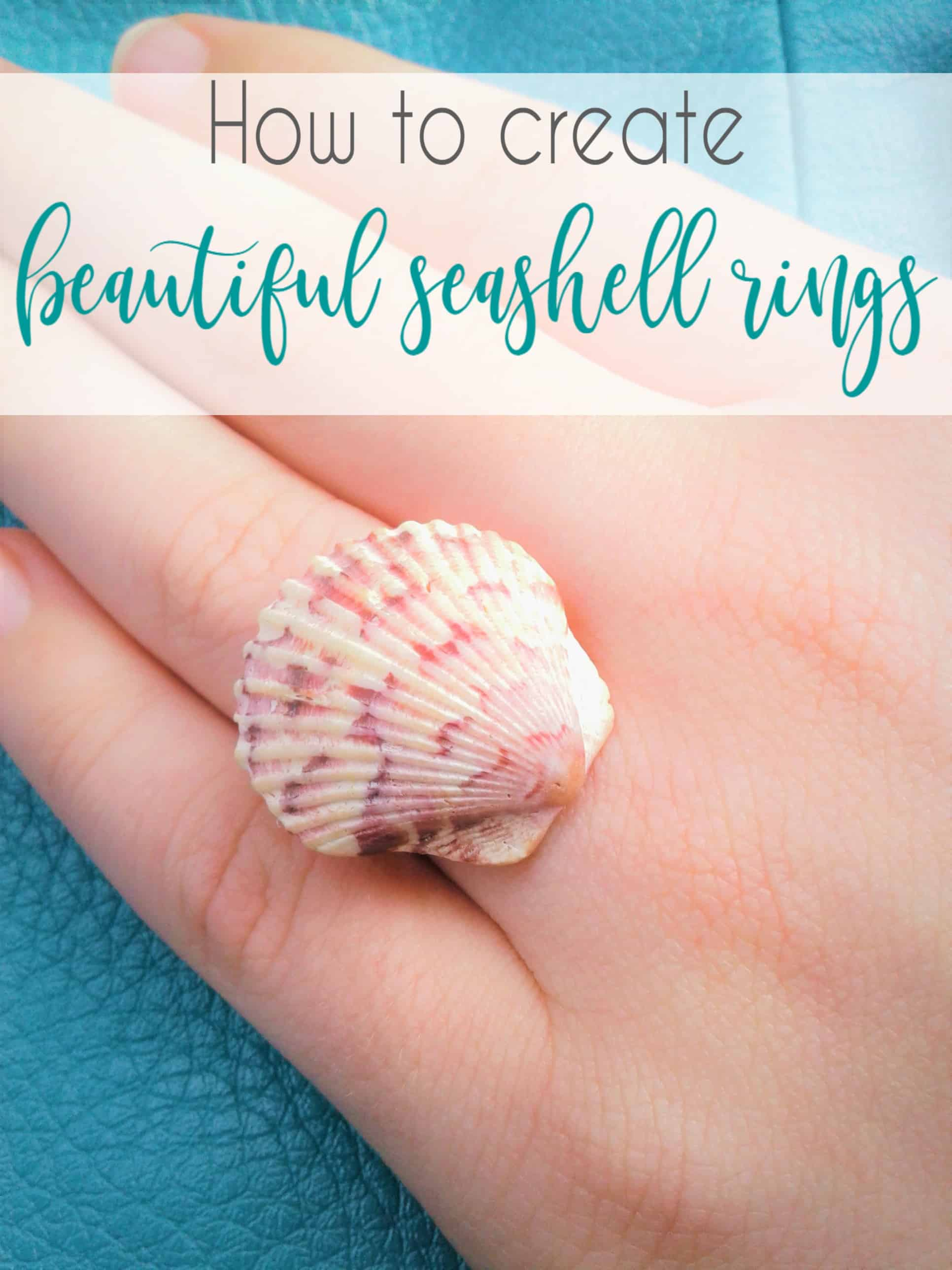 Diy seashell rings