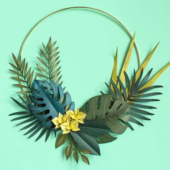 Diy tropical leaf wreath