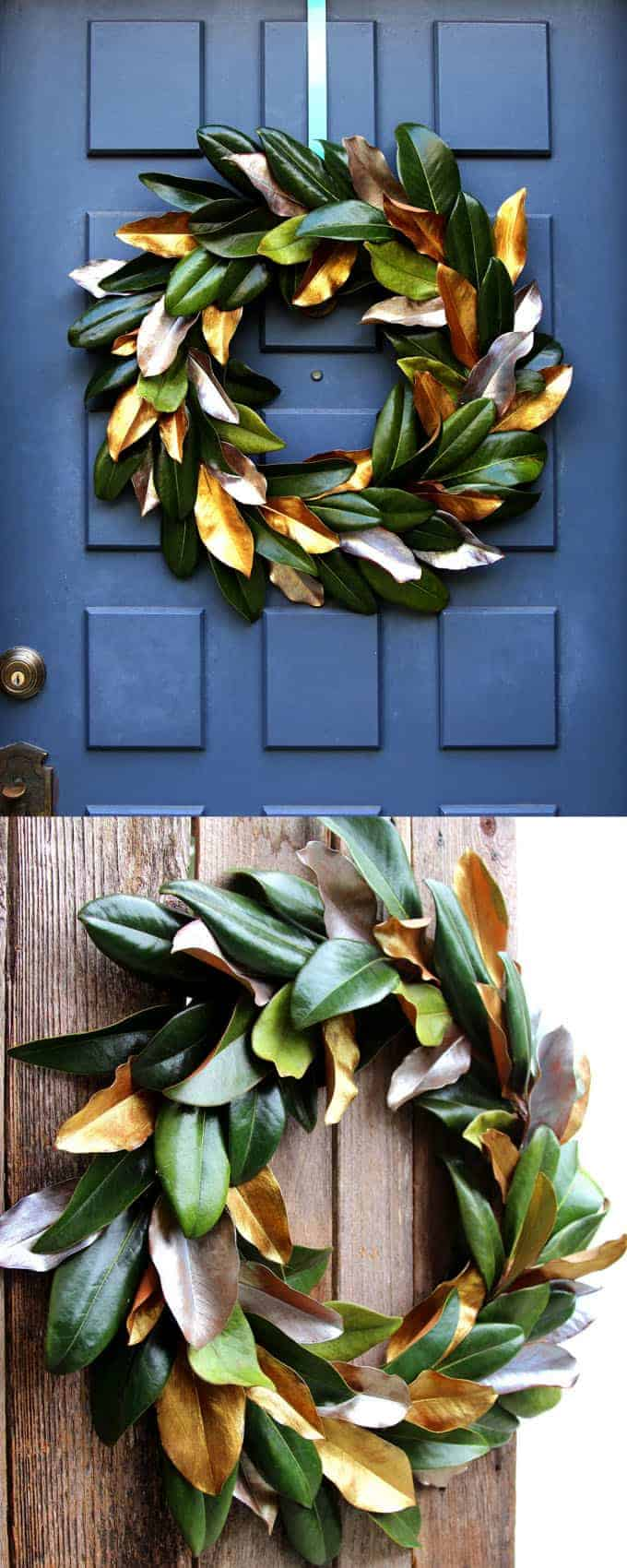 Easy free diy magnolia wreath apieceofrainbow 2