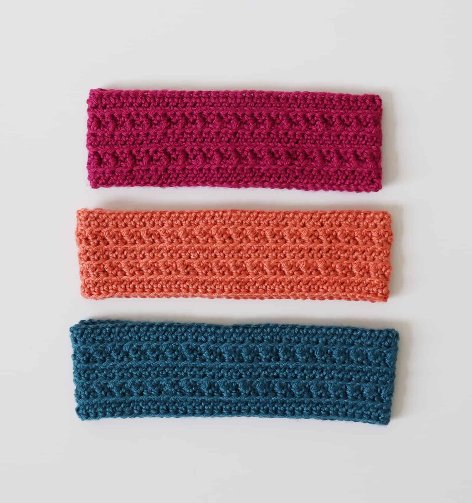 Half double crochet cluster headband