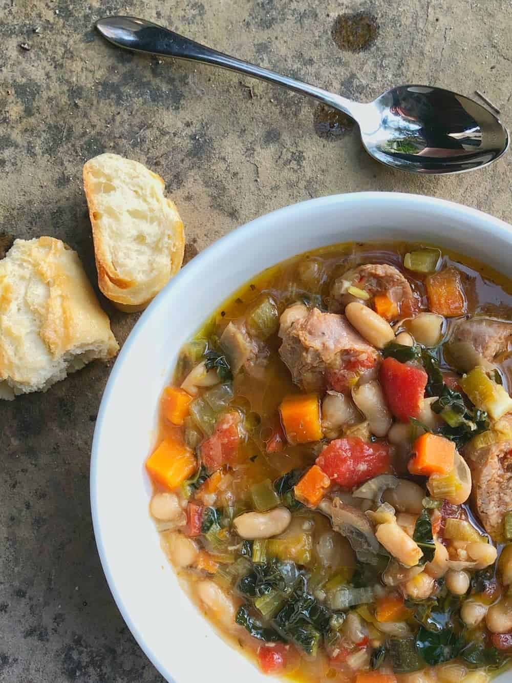 Instant pot tuscan bean soup