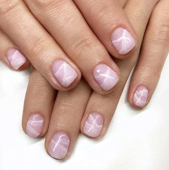 Nude marble summer nails