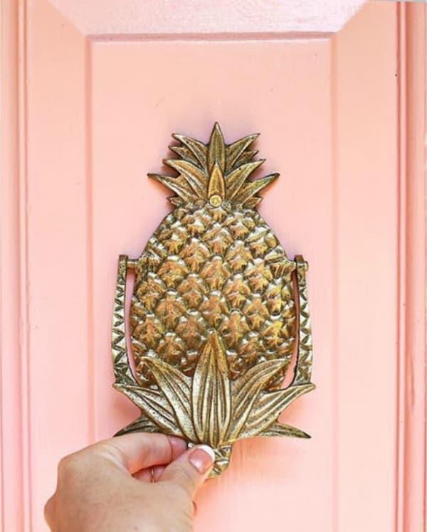 Pineapple doorknocker diy 2