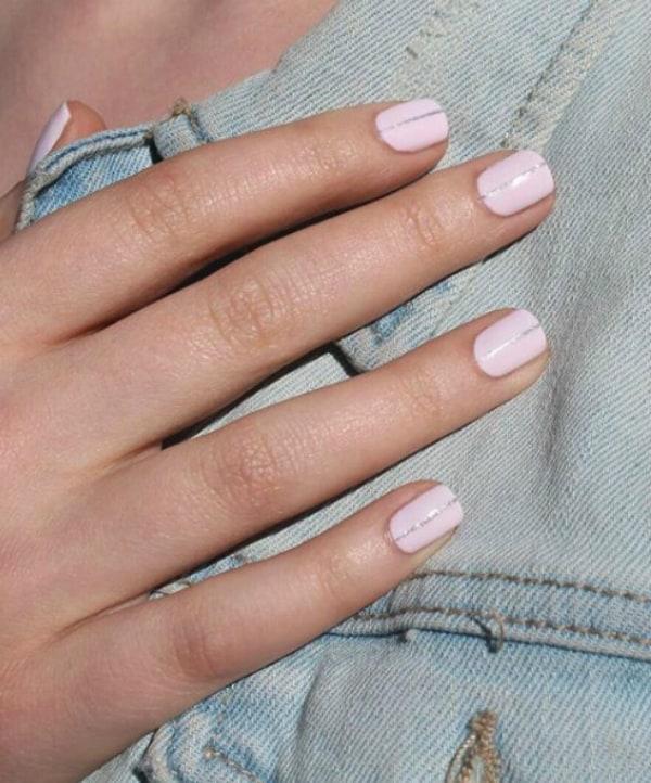Silver lining summer nails 2