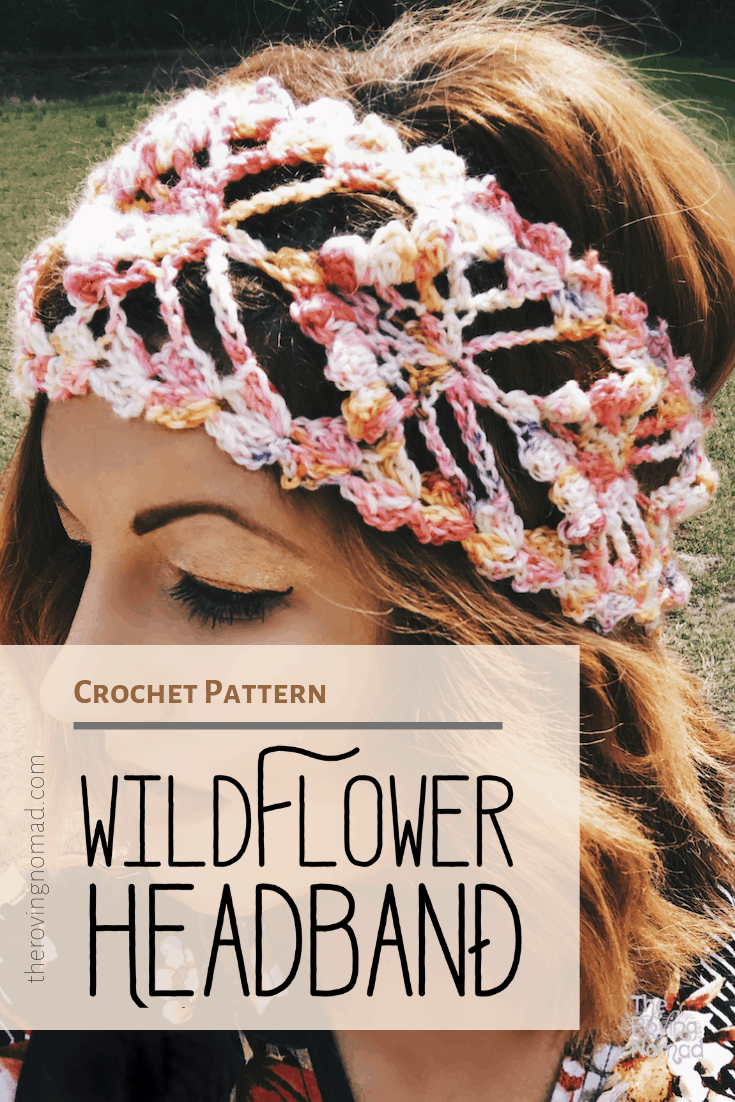 Wildflower headband diy crochet