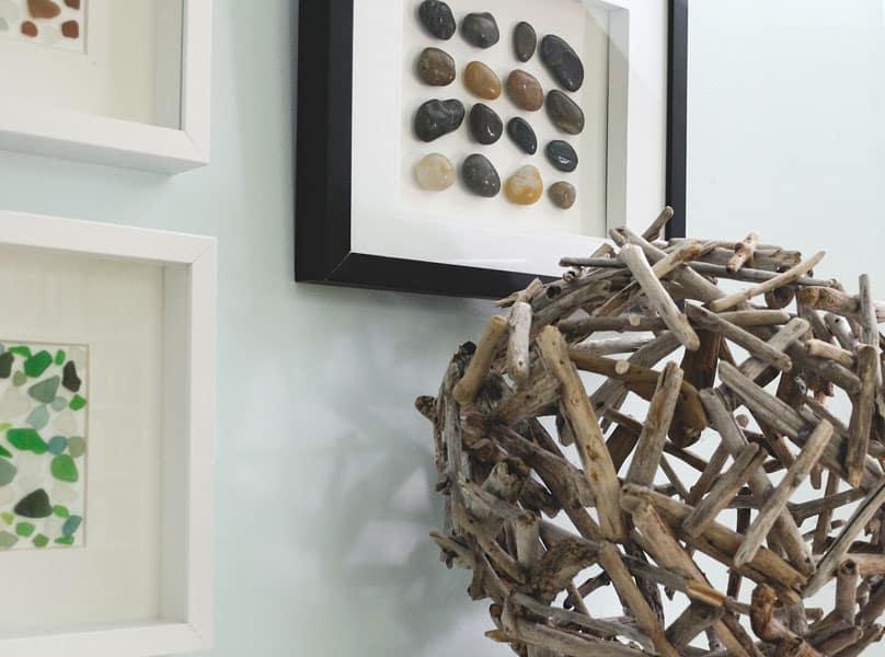 Artsy driftwood orb
