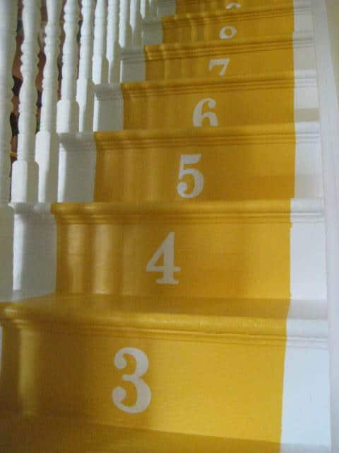 Bright numbered stairs