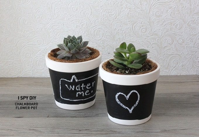 Chalkboard flower pot