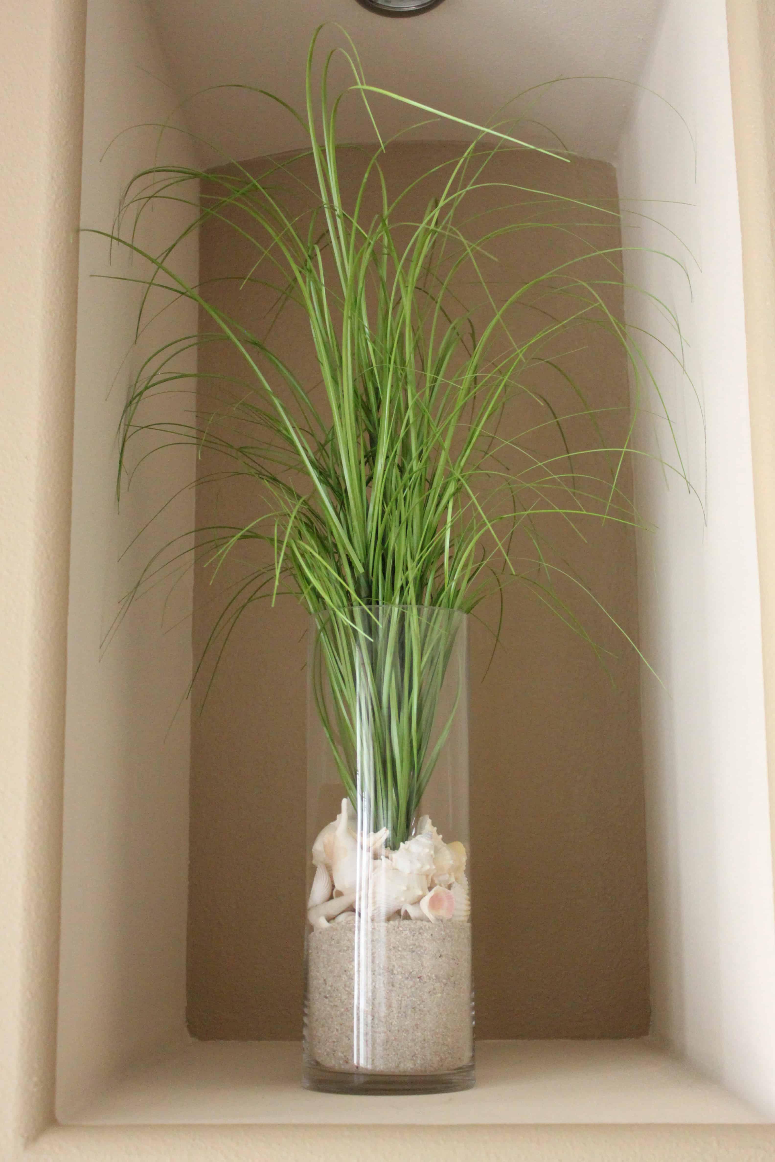 Coastal grass vase