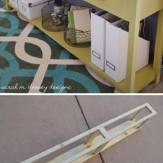 Coffee table style sofa table with drawers