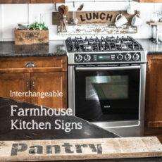 Custom wooden kitchen sign