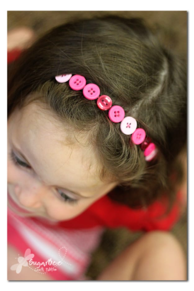 Cute button headband