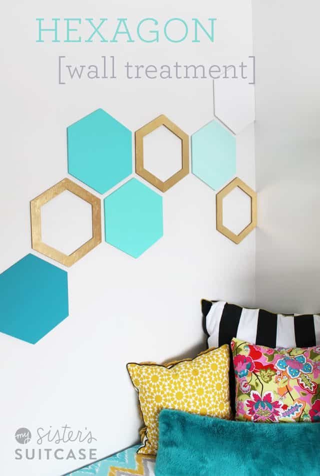Cute, colourful hexagon wall