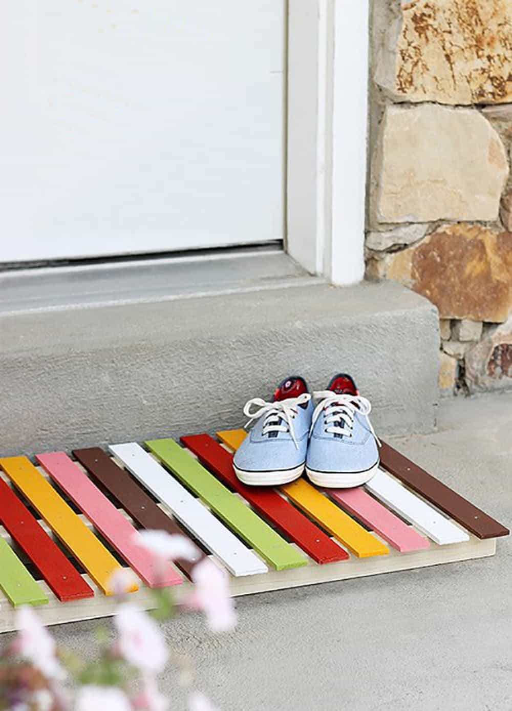 Diy doormat wooden