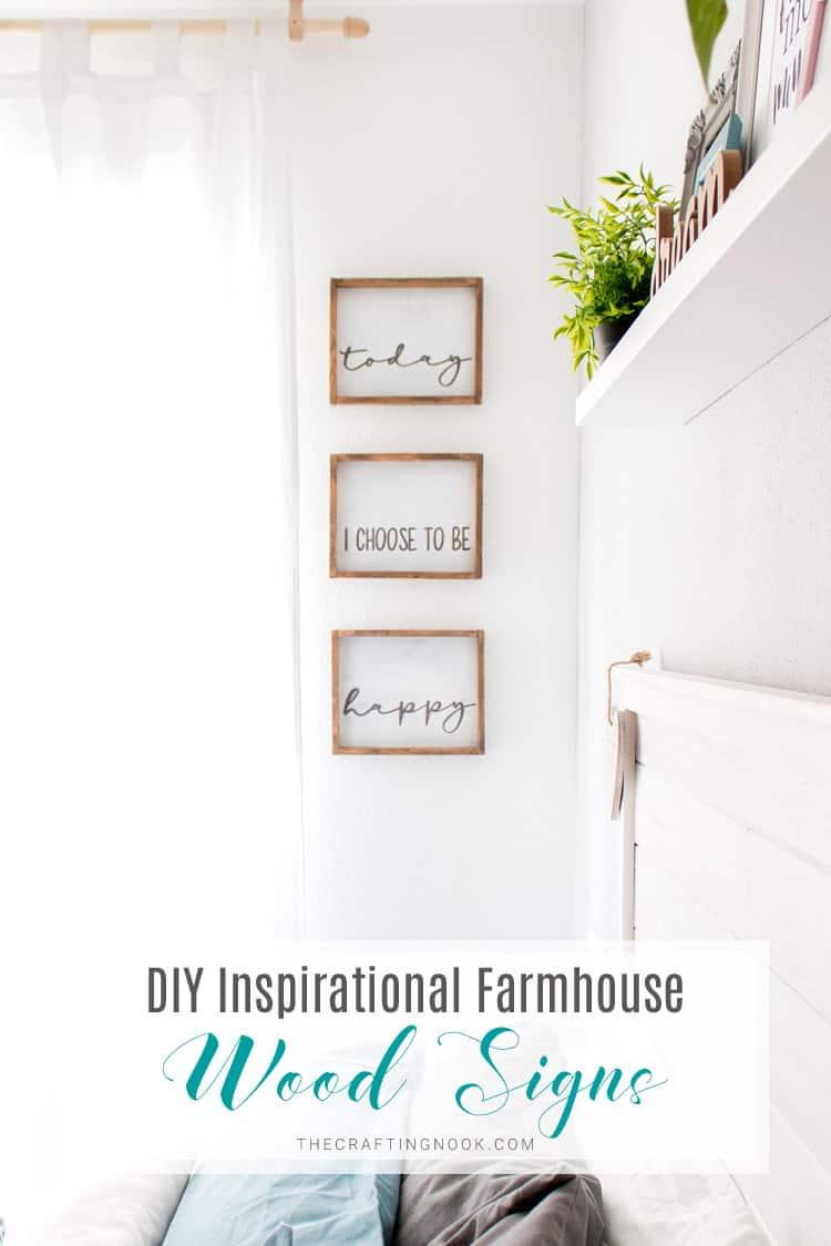 Diy inspirational farmhouse wood signs