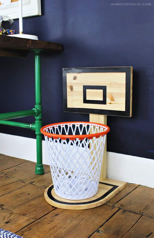 سطل آشغال حلقه بسکتبال Diy