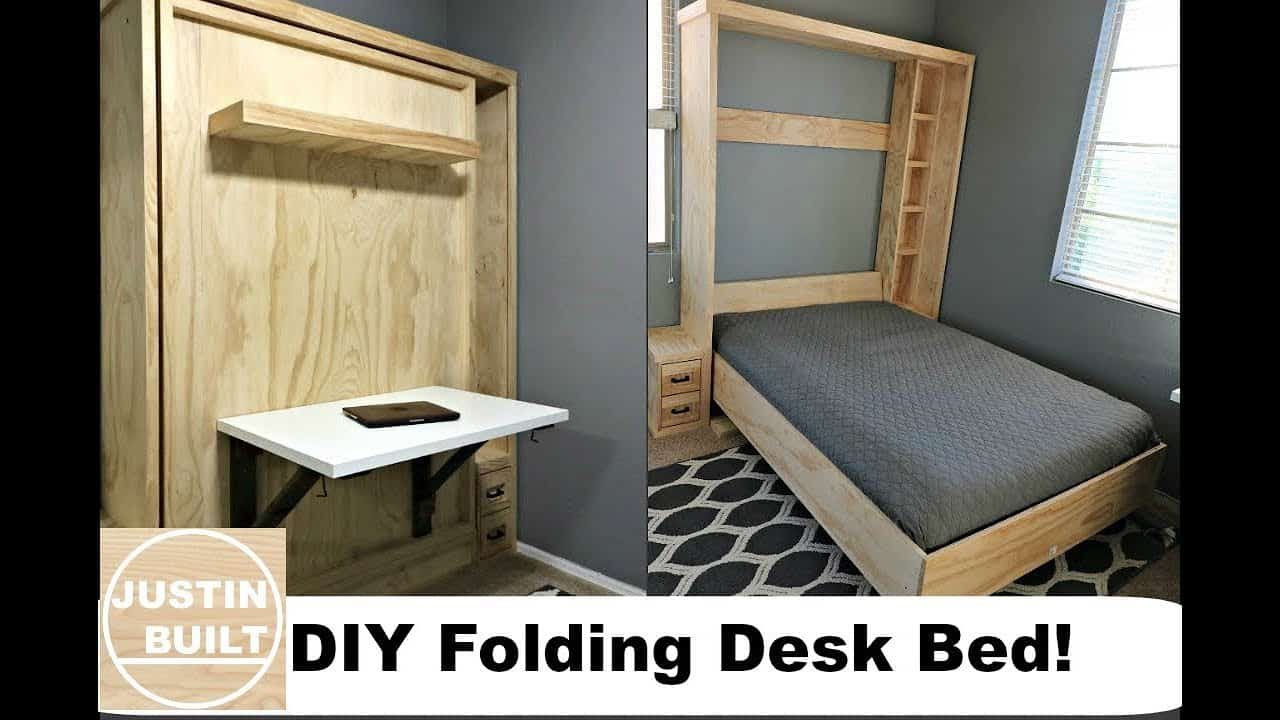 Diy folding desk bed