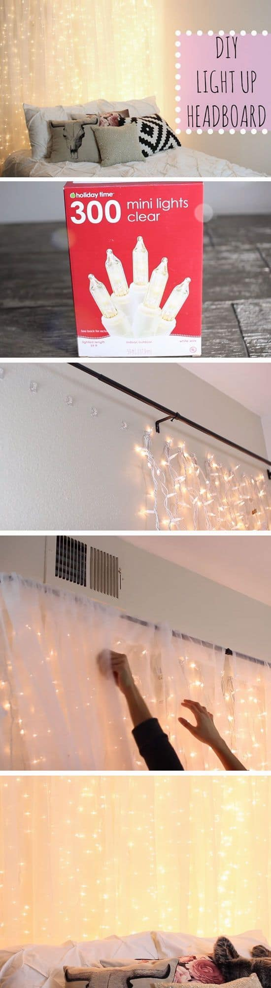 Diy light up headboard