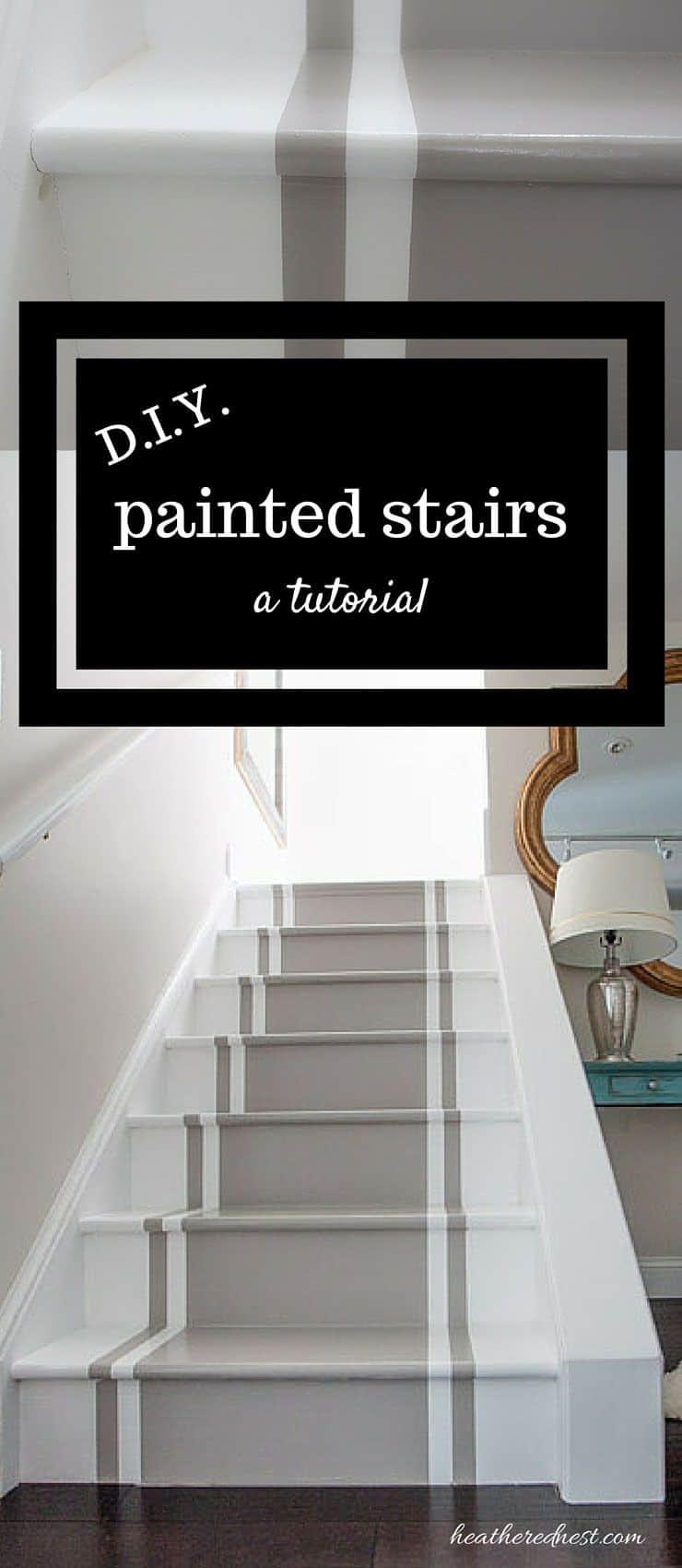 Diy painted stair runner