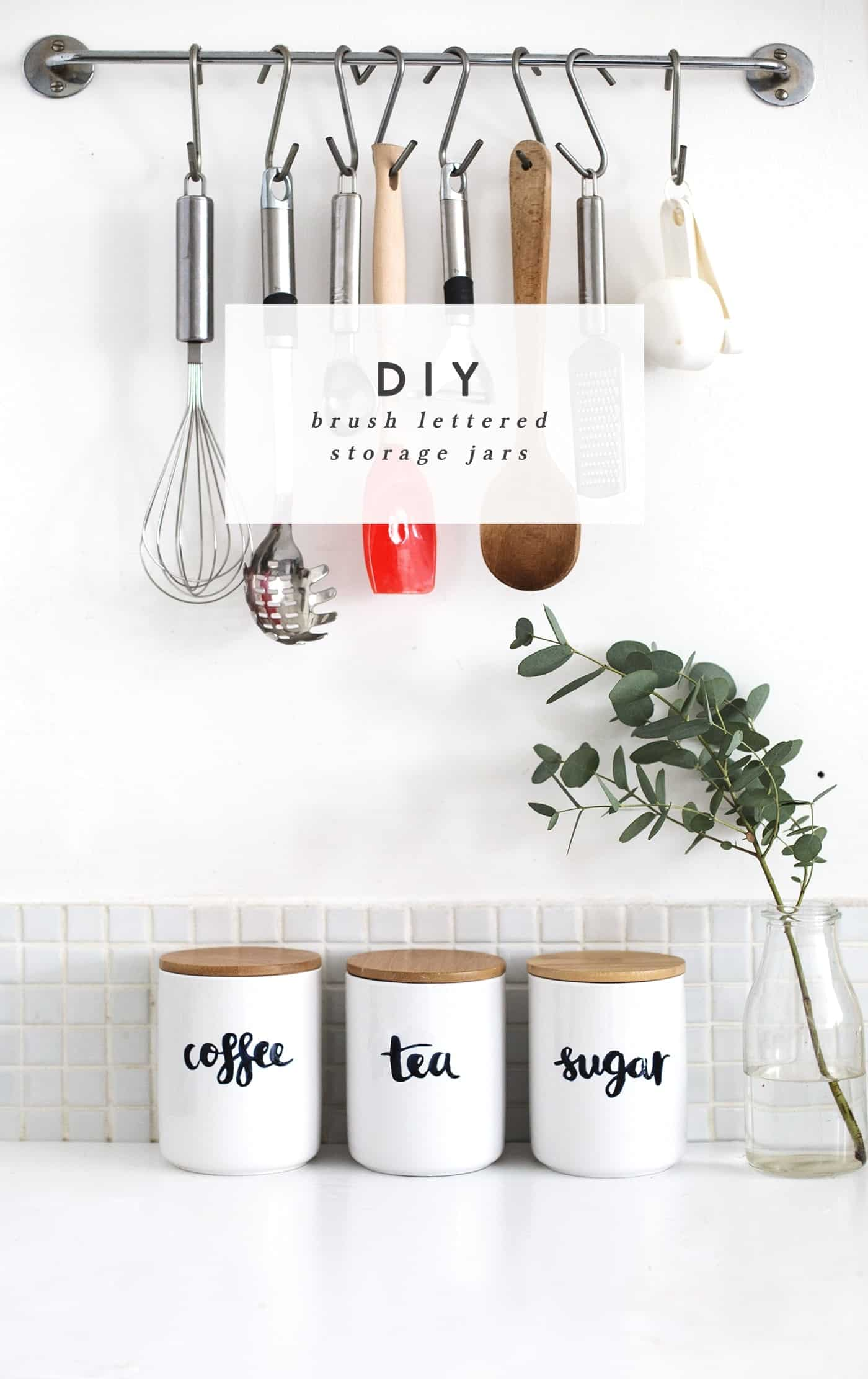 Diy personalized kitchen storage