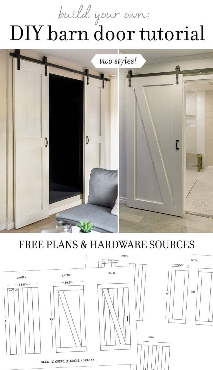 Diy sliding barn door plans