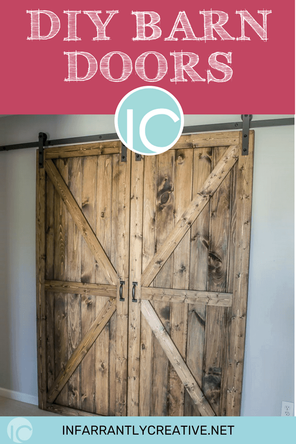 Diy sliding double barn doors in the hallway