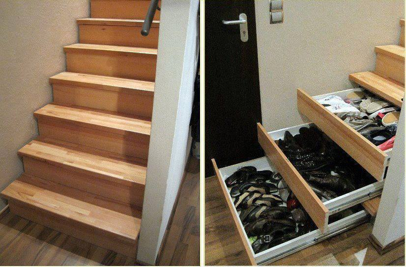 Diy stair drawers