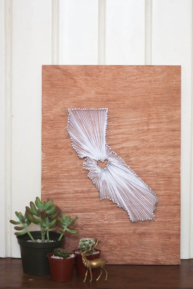 Diy string art state