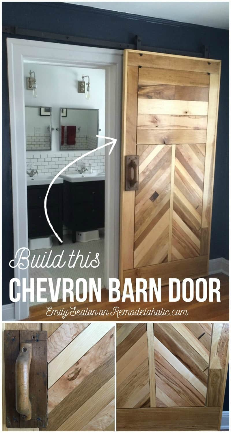 Diy wooden chevron barn door