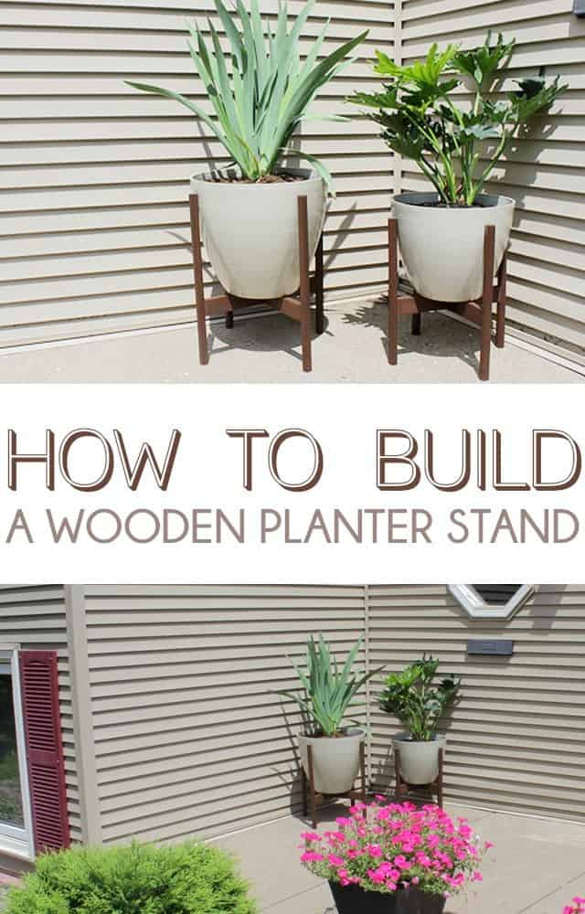 Diy wooden planter stands