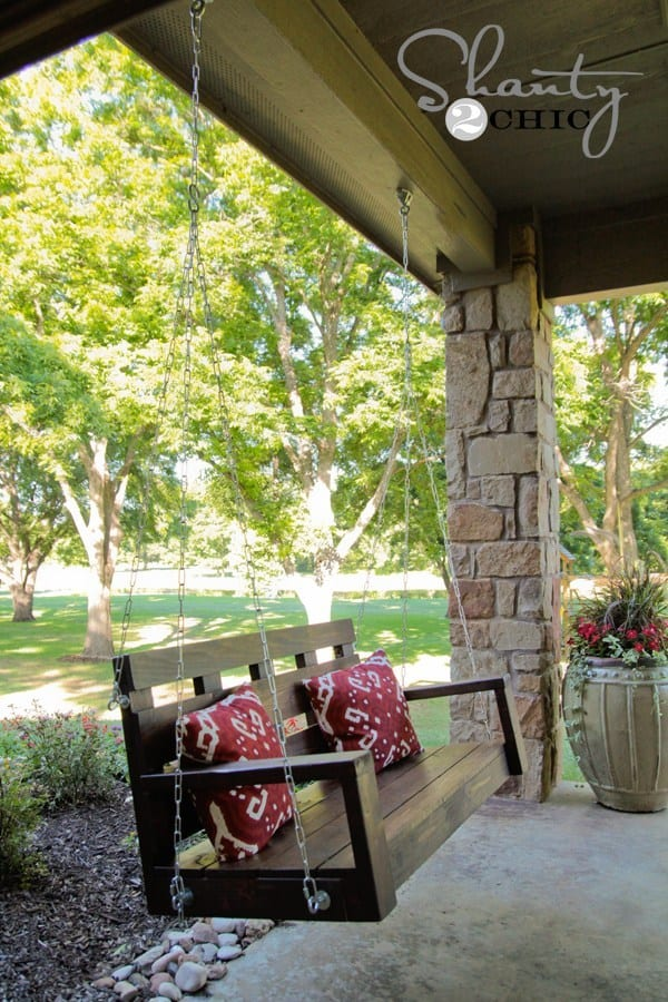 Diy wooden porch swing