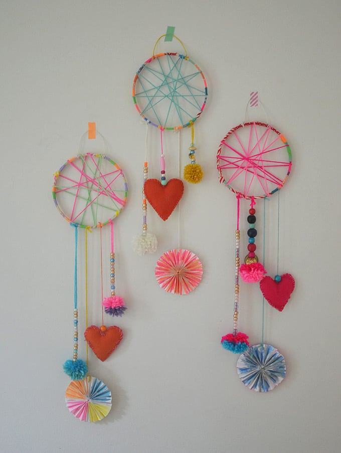 Diy yarn dream catchers