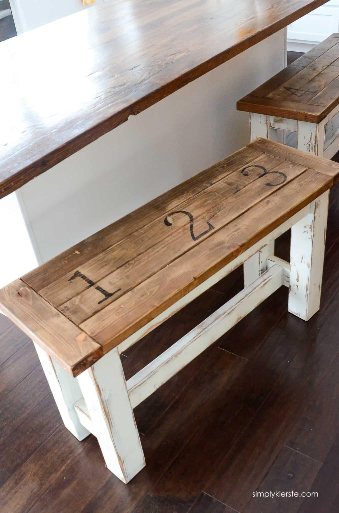 Farmhouse kitchen benches